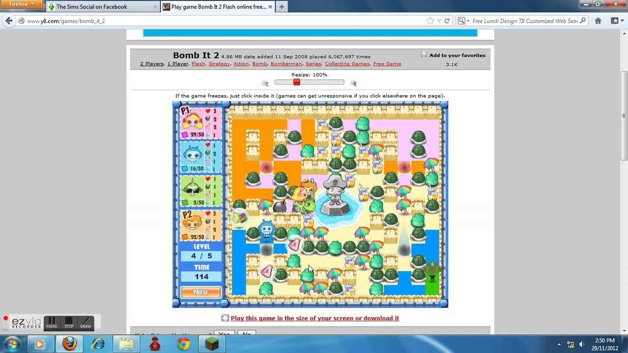 Me And My Sister Play Bomb It 2 Colour The Tiles Easy Part 1