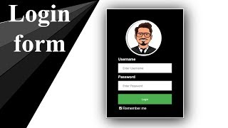 How To Create Login Form In HTML and CSS | Log In Form Design