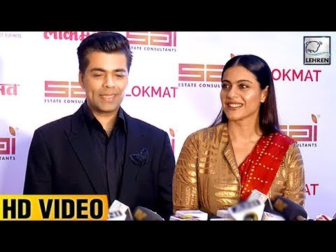 Karan Johar And Kajol Clashed At Maharashtra's Most Stylish Award 2017 | LehrenTV