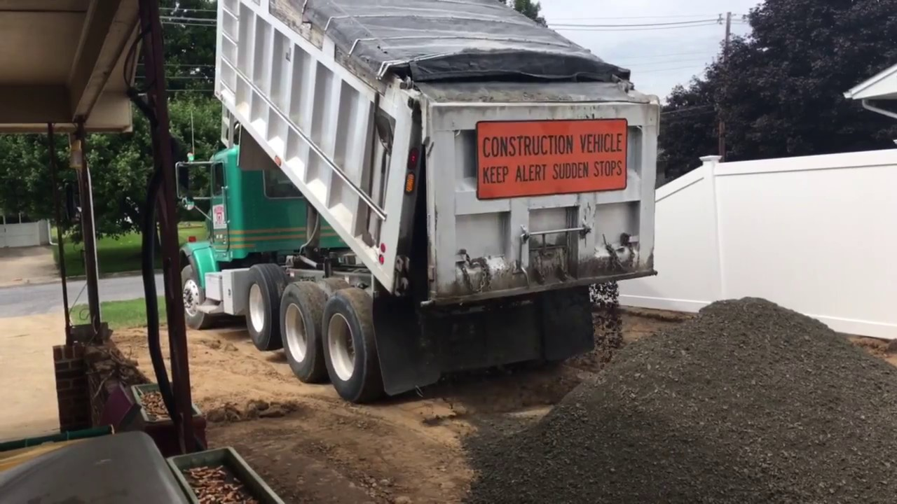 How Much Stone Is In A Tri Axle Dump Truck Load