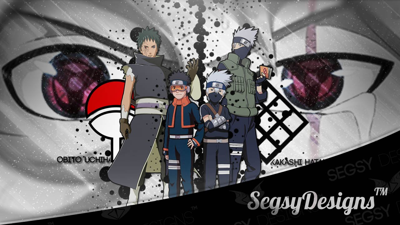anime wallpaper design speedart   kakashi amp obito