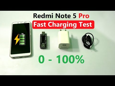 Redmi Note 5 Pro Fast Charging Test & 0 to 100% Time Taken? in Hindi