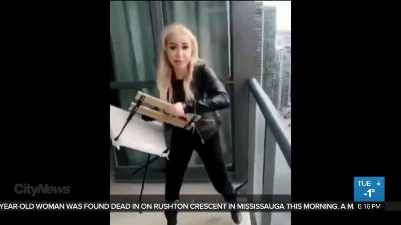 Video Chair Woman Who Throws Chair Off Balcony In Viral Video Identified