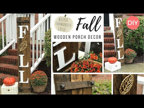Fall Porch Decor | Wooden Sign DIY | Rustic Farmhouse | Quick & Easy | Ashleigh Lauren