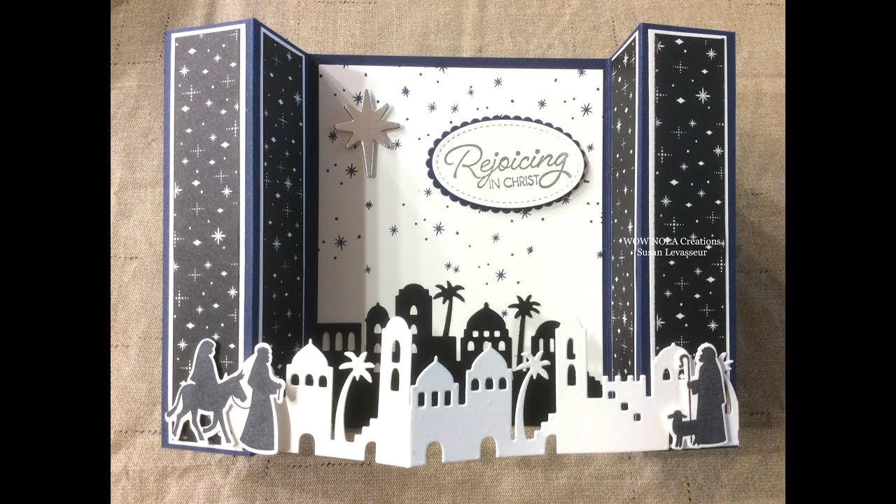 Special Stampin Up Night In Bethlehem Bridge Card YouTube