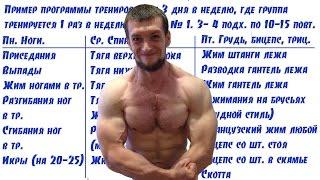 Программа тренировок для набора массы(, 2015-06-18T08:07:49.000Z)