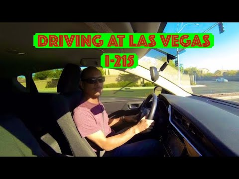 Driving at Las Vegas Beltway Interstate 215 Nevada