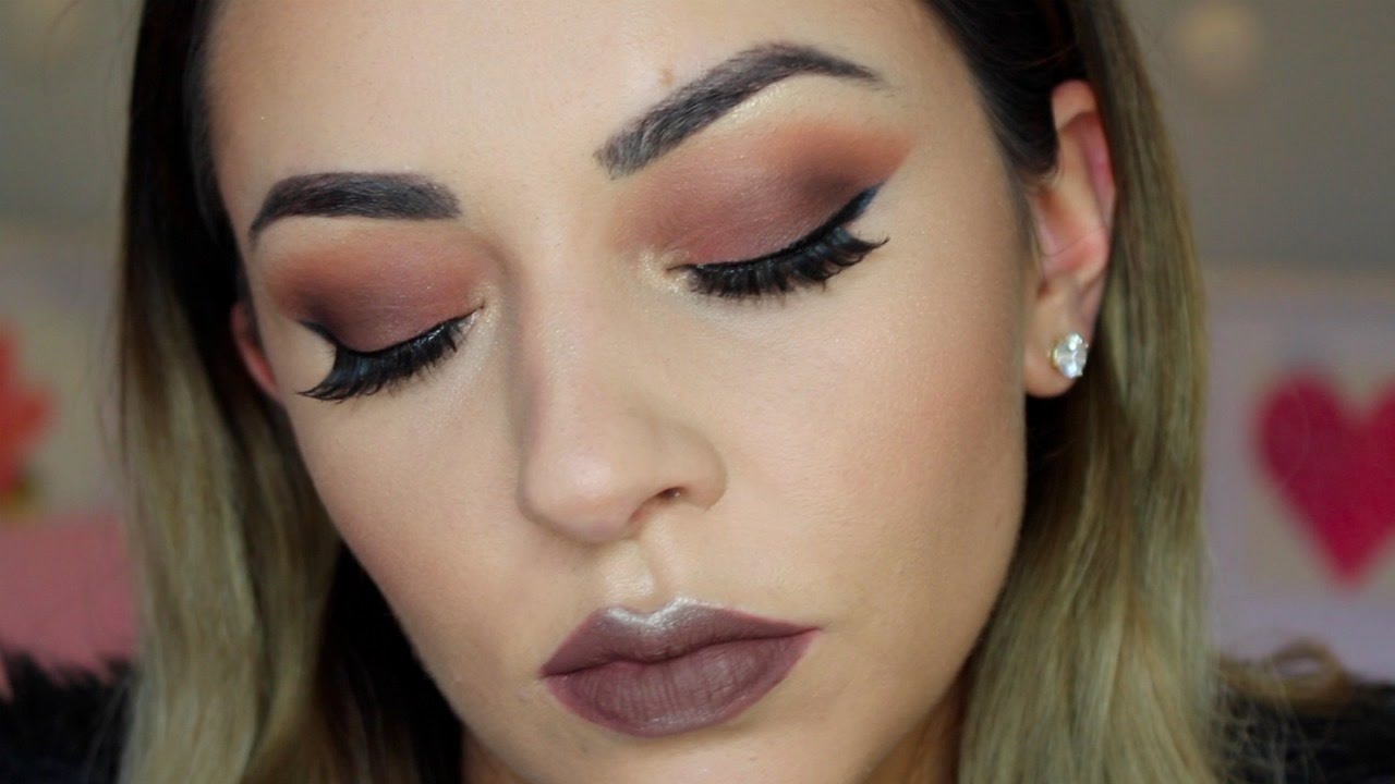 Matte Brown Smokey Eye Makeup Tutorial For Hooded Eyes Youtube