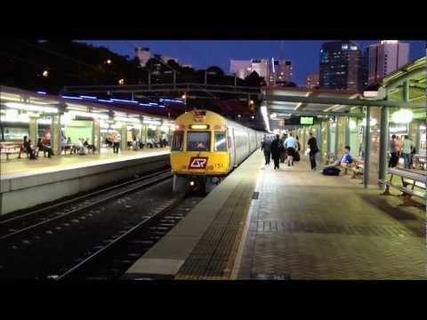 QR Intercity Express 151 and Cairns Tilt Train Arrive Roma St Station