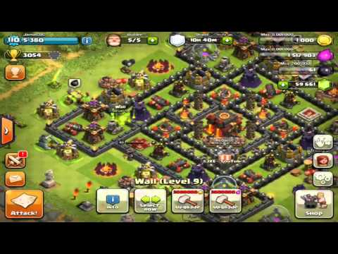 Clash of Clans - Maxing Out Base 300,000 Gems! Getting Queen & King Level 40! & Max Walls! Gems