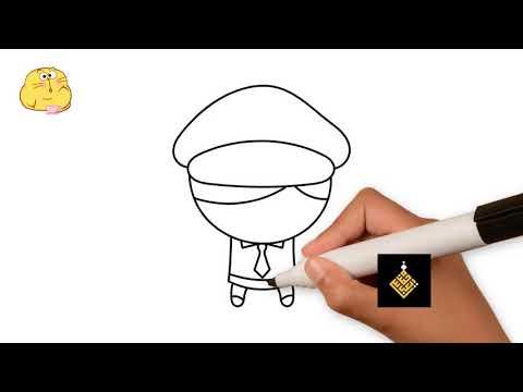 طريقة رسم ضابط شرطة للاطفال رسم سهل رسومات سهلة للاطفال Youtube