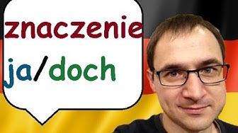 ja / doch - co znaczy i jak używać?- jezyk niemiecki - gerlic.pl