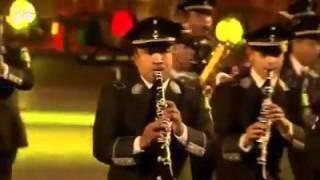 Banda militar de #México en la guerra de bandas militares de #Moscú, #Rusia,