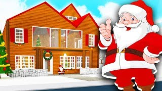 SANTA MADE ME BUILD HIM A MANSION IN BLOXBURG!! (Roblox)