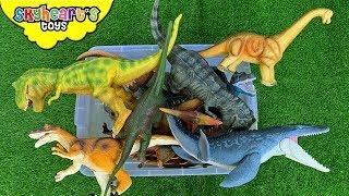 Dinosaur FIGHT in Box! Skyheart jurassic battle brachiosaurus mosasaurus trex