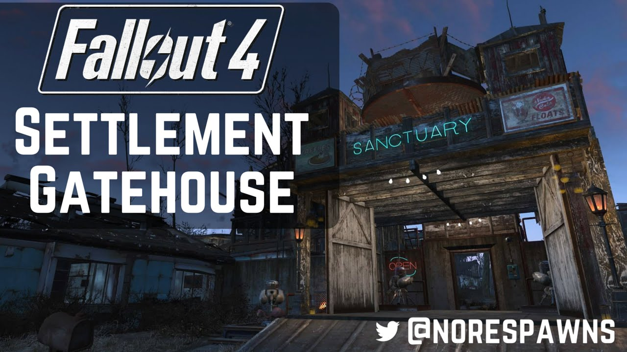 Fallout 4 far harbor settlement gatehouse barn build for Fallout 4 bedroom ideas