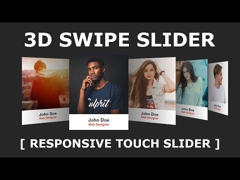 Responsive Touch Slider Using Html CSS & Swiper.js - 3D Responsive Slider Using Swiper.js