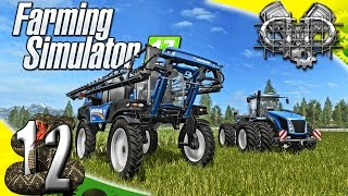 Farming Simulator 2017 Gameplay :EP12: New Holland Sprayer & Tractor! (PC RattleSnake Valley)