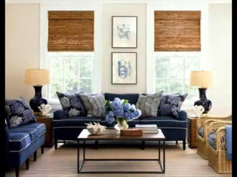 Nautical living room decorating ideas - YouTube