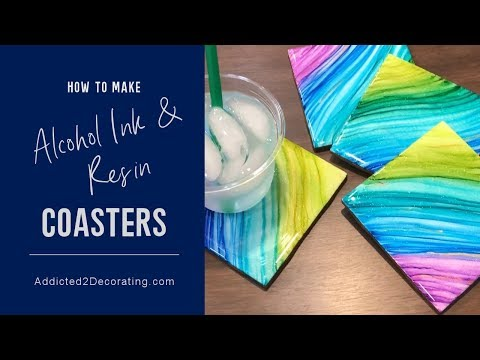 DIY Ceramic Tile, Alcohol Ink and Resin Coasters