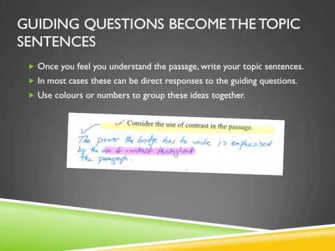 IB Literature SL Paper 1 Guided Literary Response