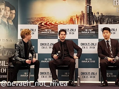 Vlive Korean Live Stream | Dylan O'Brien at the Korean Premiere for Maze Runner: The Death Cure