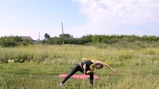 Тренировка для плоского живота.  Бодифлекс для снижения веса.