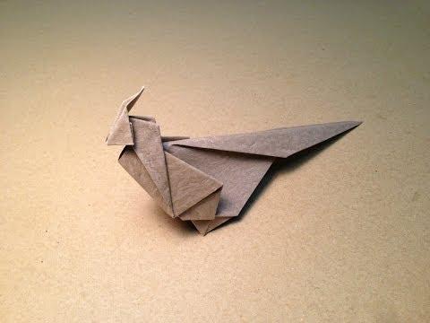 Origami Bird Instructions / Green Pheasant