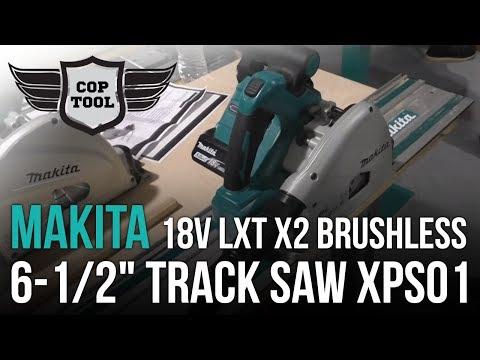 """Makita 18v LXT X2 Brushless 6-1/2"""" Track Saw XPS01"""