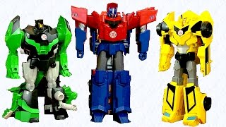 Set Hero Class Three Step Changers - Transformers Robots In Disguise - Optimus, BumbleBee, Grimlock