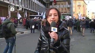 Roma - Pizzoli manifesta sotto la Consob