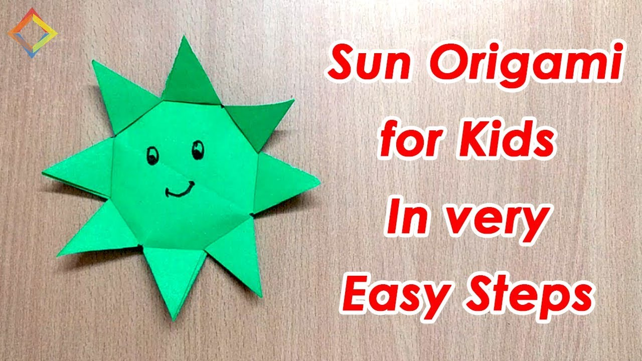 How To Make Origami Sun For Kids In 5 Minutes Step By Step Youtube