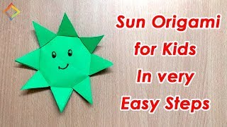 How to make origami sun for kids in 5 minutes step by step