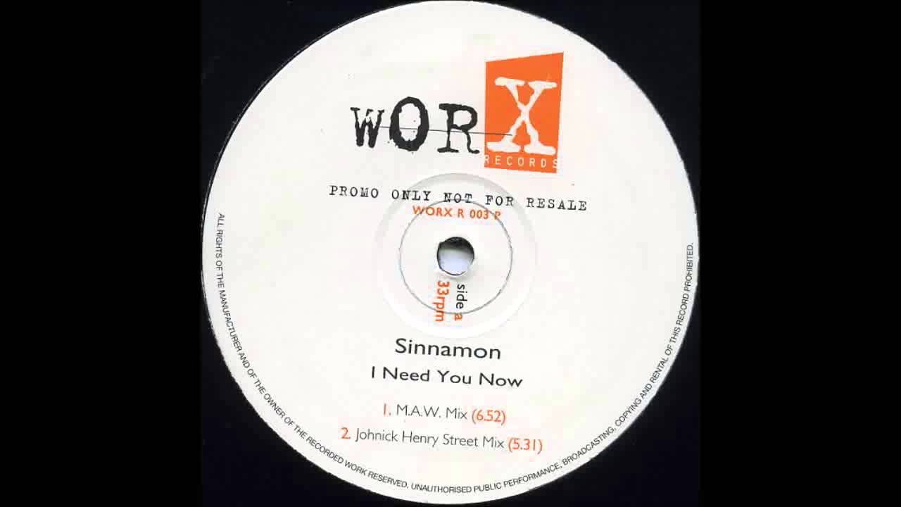 1996 Sinnamon I Need You Now Masters At Work RMX YouTube