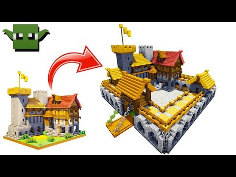 Minecraft Fortified House Upgrade (EASY 5X5 BUILDING SYSTEM)