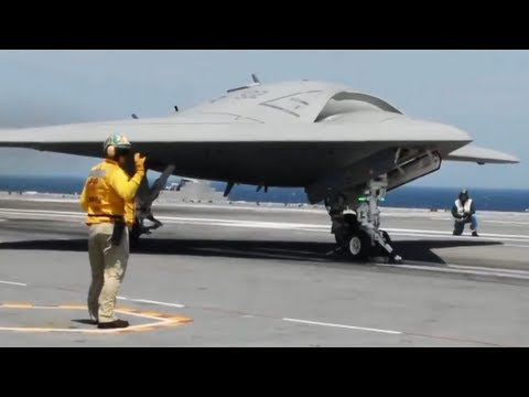 X 47b Historic Drone Carrier Landing