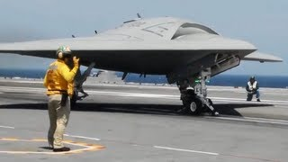 X-47B Historic Drone Carrier Landing