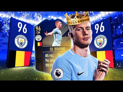 THE KING OF THE MIDFIELD IN FIFA 18! TOTY KDB IN PACK + PLAYER REVIEW! (FUT)