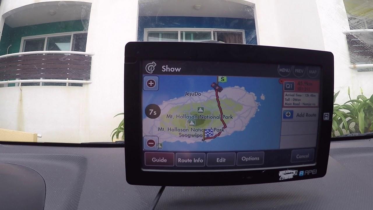Как пользоваться навигатором на корейском острове Чеджу
