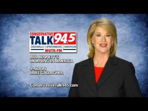 Conservative Talk 94.5 local morning news with Jane Robelot