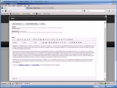 Articles portlet
