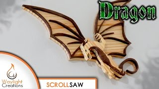 FREE SCROLL SAW PATTERN - http://waylightcreations.com/dragon-scroll-saw-wood-art-pattern Scroll Saw Saturday #3...