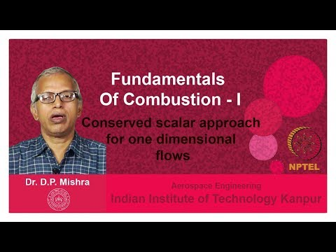 Lecture 39 Conserved scalar approach for one dimensional flows
