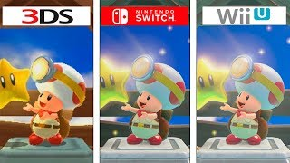 Captain Toad | 3DS vs Switch vs Wii U | Graphics Comparison | Comparativa