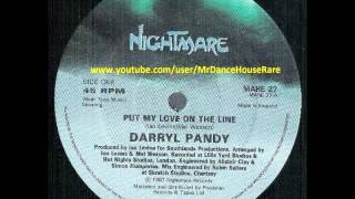 Darryl Pandy ‎-- Put My Love On The Line (1987)