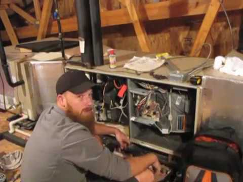 Diy how to replace 28f01 blower motor on lennox g26 for How to install a blower motor in a furnace