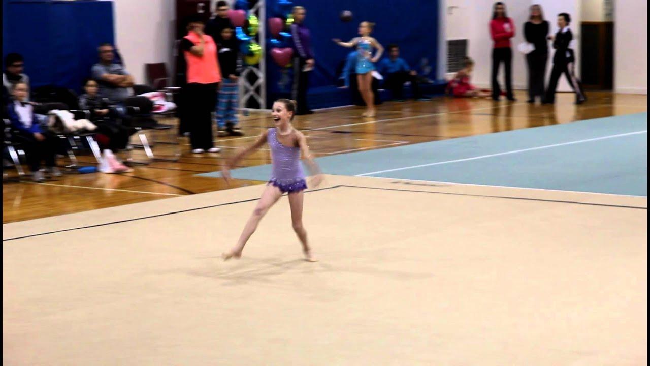 Katie Level 6 Rhythmic Gymnastics Floor Routine Youtube