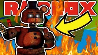SEARCHING FOR IGNITED CHICA AND FREDDY SECRET BADGES! Roblox The Beginning of Fazbear Ent The RP