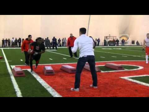 Rutgers Pro Day Workout Agility Drills