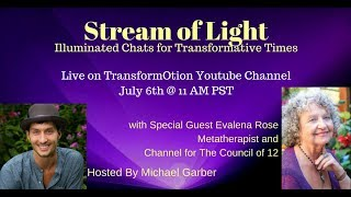 Stream of Light: with Special Guest Evalena Rose, Metatherapist and Channel for The Council of 12